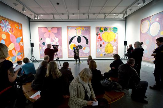 The Hilma af Klint exhibition in Denmark.